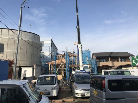 青木島の家 建方