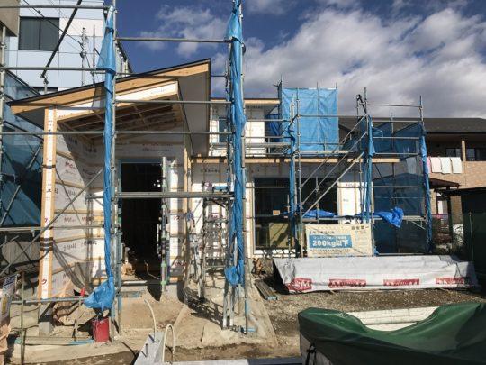 青木島の家工事が進んでいます