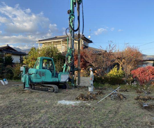 香り立つ木の家 地盤改良工事